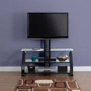 """Free Shipping. Buy Spar Glass and Metal TV Stand for TVs up to 65"""" at Walmart.com"""