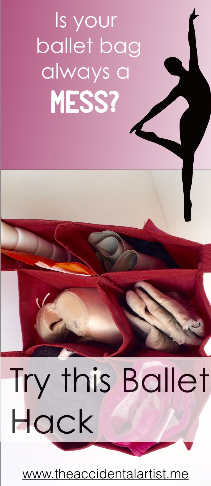 """A ballet """"hack"""" for the dancer! Organized Dance Bag, Organized Mind When you're…"""
