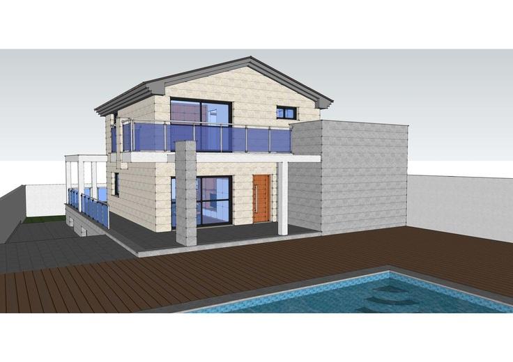 Casas Contemporaneo Balcon Exterior Porche Dibujos