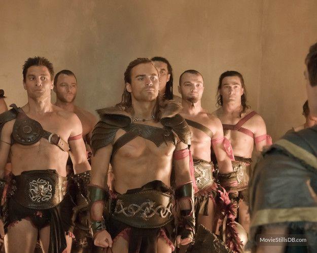 Spartacus: Gods of the Arena - Publicity still of Manu Bennett, Dustin Clare & Nick E Tarabay