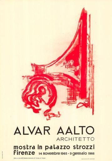 Alvar Aalto. Architetto, mostra in Palazzo Strozzi, Firenze, Italia. 14.11.1965-9.1.1966.