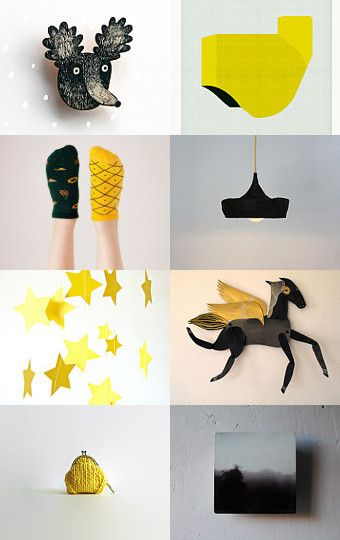 Yellow and Black by twomoons on Etsy--Pinned with TreasuryPin.com