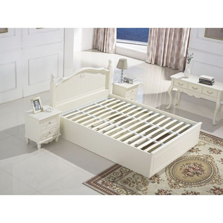 Sandra Oak Gas Lift French Provincial Bed Queen | Buy Bed Frames | MyDeal