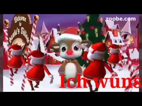 sch nes weihnachtsfest mit viel liebe und freude rentier zoobe u weihnachtsm nner tanzen