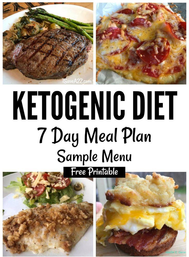 Keto Sample Menu Plan 7 Day Plan (free printable)