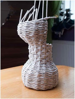 Ania Inspiruje : kurs-gorset mini: Basketry, Cesti Tecniche, Kur Gorset Minis, Kursgorset Minis, Papierove Knitting, Ania Inspiruj, Kurs Gorset Minis, Paper Knits, With Papell