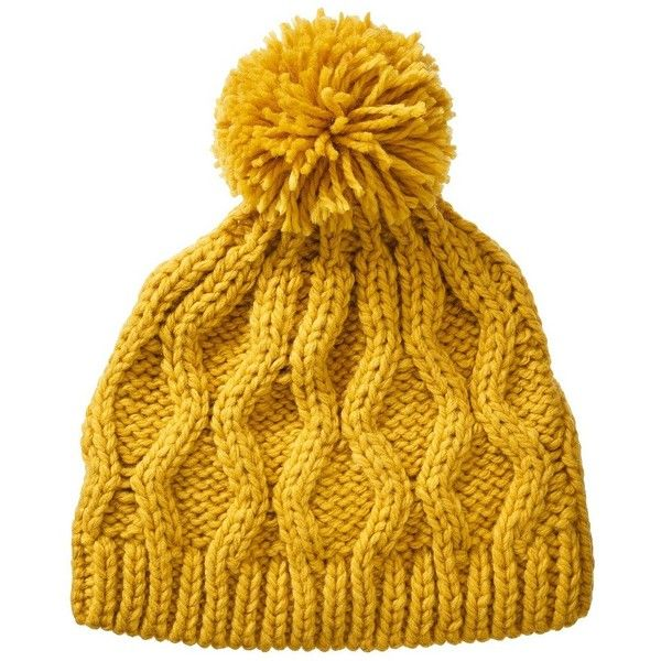 Crochet Beanie Hat with Ball Yellow and other apparel, accessories and trends. Browse and shop 13 related looks.