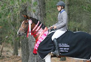 Amanda won the South Island 1.20m Welcome Stakes on Showtym Viking