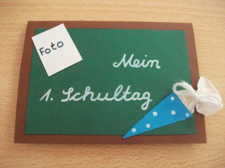 Süsse Idee für eine Einladungskarte für die #Einschulungsfeier #DIY