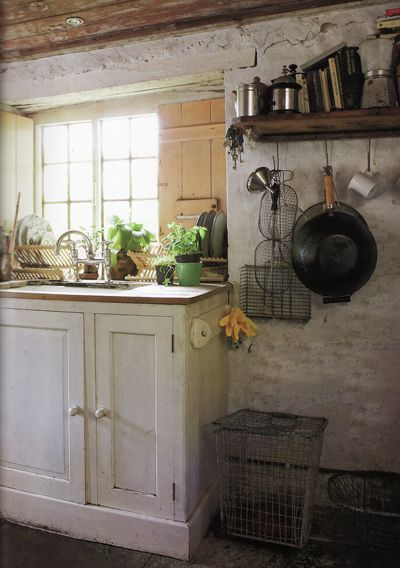 "From ""Perfect English Cottage"" - YES! This how I want the interior of my future cottage to look. Light, airy, and rustic!"
