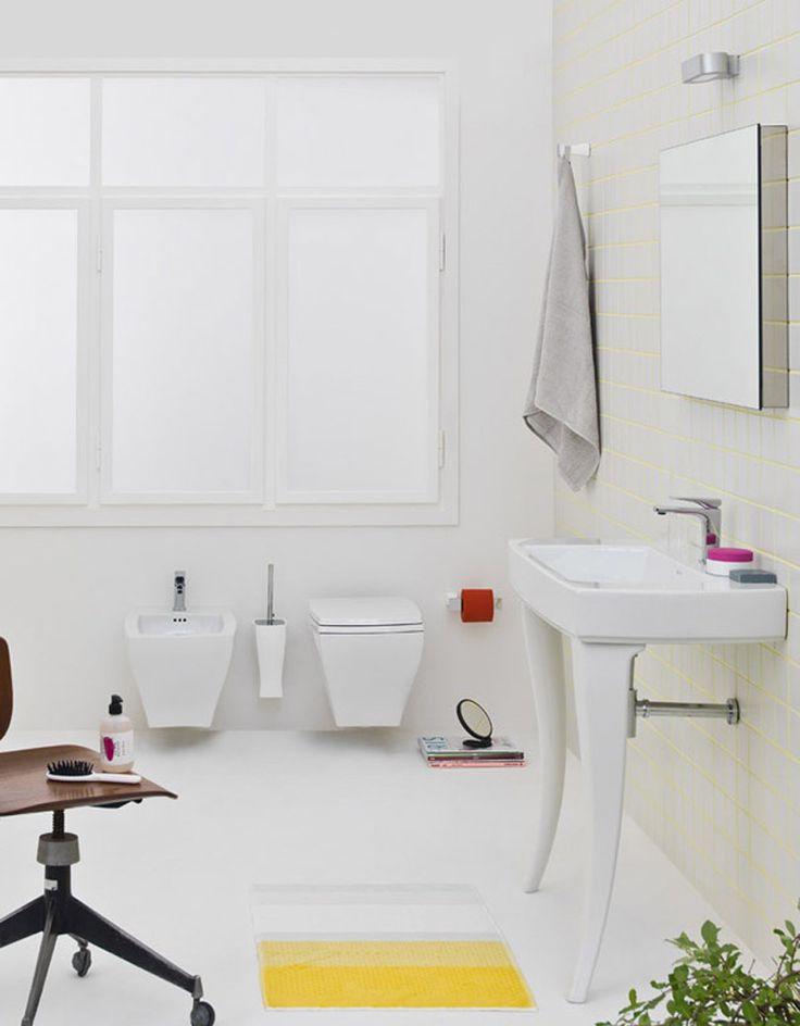 Jazz, design Meneghello #bagno #bathroom #design #decor #white #sanitaryware #Artceram