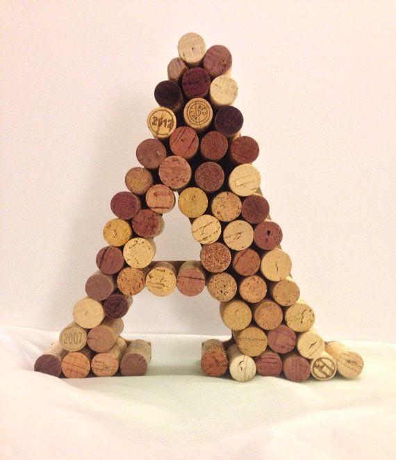 Wine cork monogram A letter