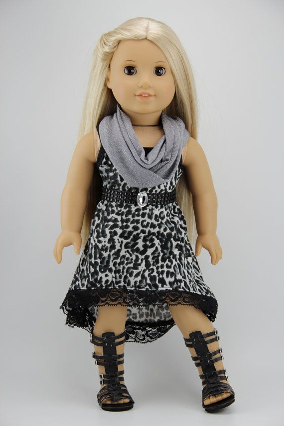 American Girl doll clothes High low strappy by DolliciousClothes