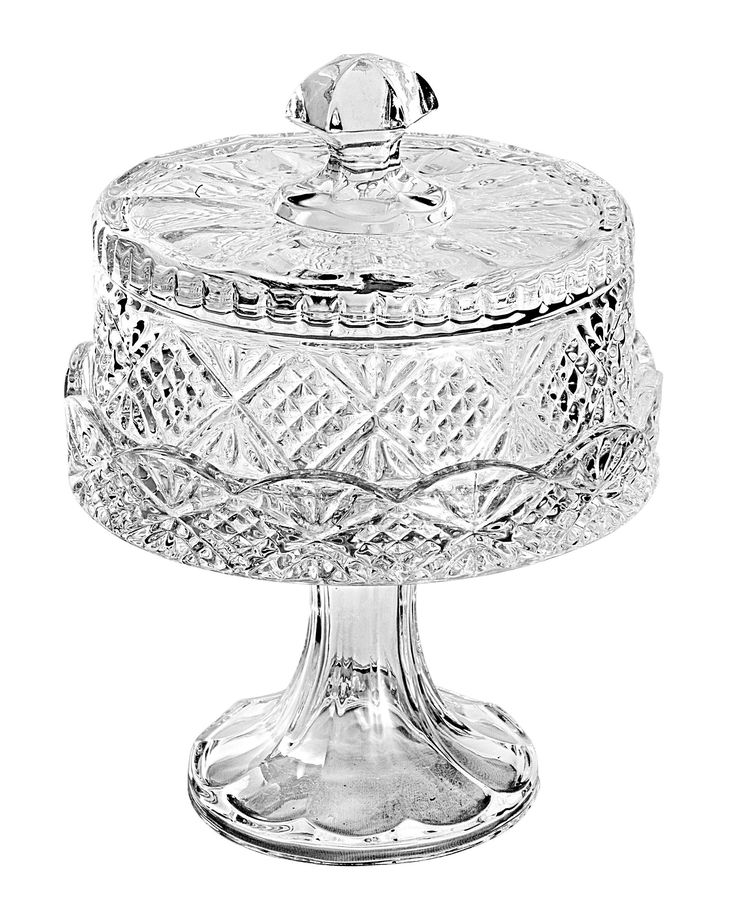 Dublin Small Crystal Cake Plate with Dome