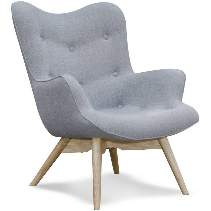 De Fauteuil Vida is een klassiek model in een heel nieuw eigentijds jasje gestoken. De grijze stoel van I-Sofa is daardoor een mooie eye-catcher! Extra leuk doo