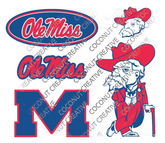Ole Miss University of Mississippi Rebels logo football svg
