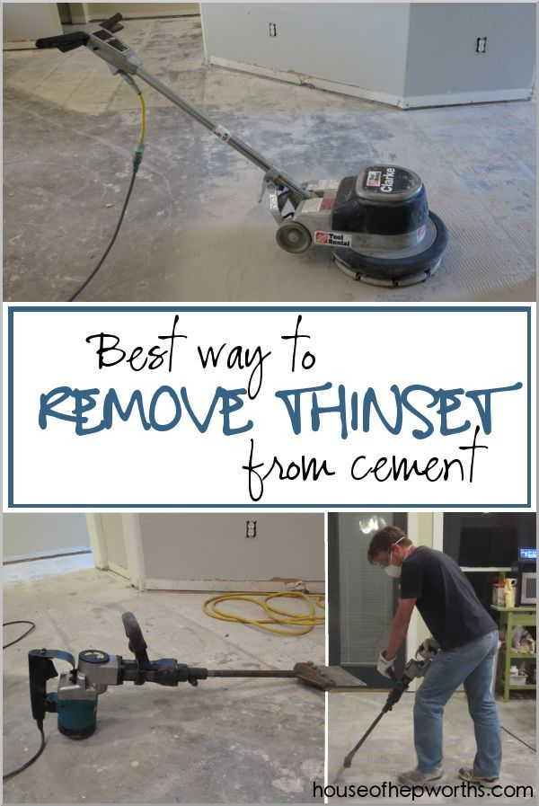 The Best Way To Remove Thinset From A Cement Foundation Cleaning Hacks House Cleaning Tips Deep Cleaning Tips