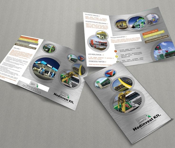 Modinvest Kft trifold brochure