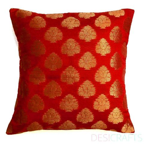 Throw Pillows Red And Gold : 17 Best images about Red and Gold Throw Pillows on Pinterest White prints, Red velvet and ...