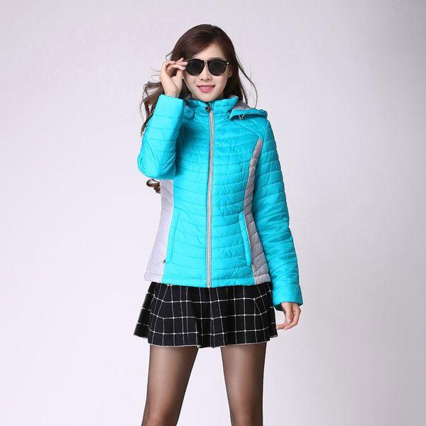 韩版撞色拼色学院风格snowimage短款女棉衣 秋冬新款女装外套女.5