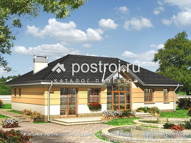 Красивый одноэтажный дом проект № A-183-1K