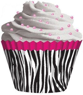zebra+cupcakes | pink zebra cupcake liners standard sized zebra cupcake baking liner ...