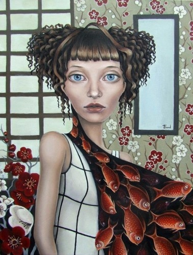 Tanya Bond: Fantasy Art, Tanya Bond, Tanyabond, Art Crosses, Fashion Surrealism, Surrealism Pop, 5X7 Prints, Artists Tanya, Duality Fashion