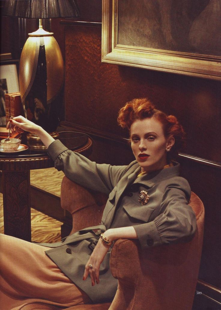 Styled by Grace Coddington. Karen elson