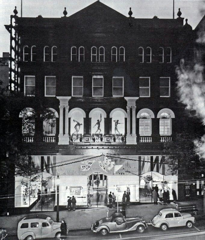 Georges Department Store in Melbourne decked out for the 1956 Melbourne Olympic Games.