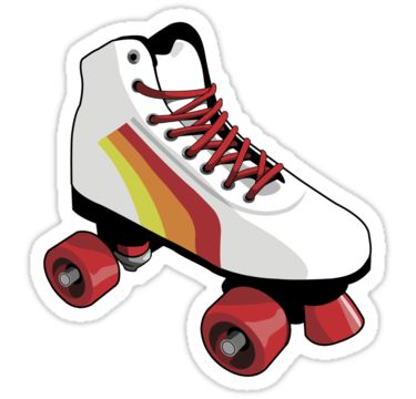 Retro style roller skate. • Also buy this artwork on stickers and apparel.