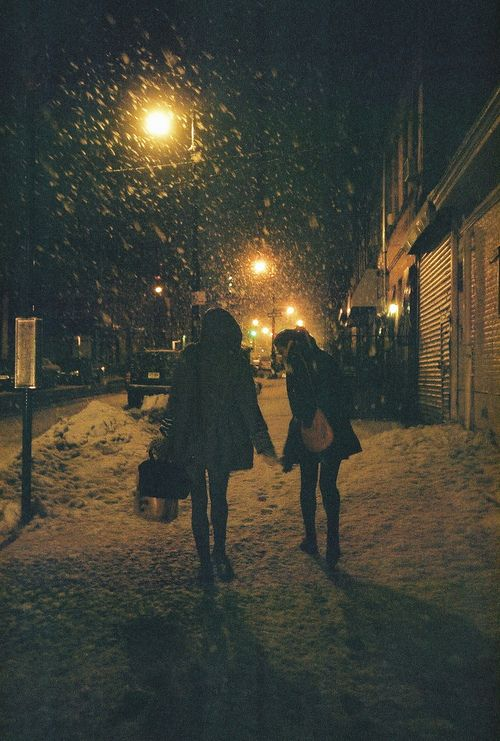 ~ as they walked down the empty boulevard, all they could hear was the crunch of snow under their feet ~ #story #inspiration #scene