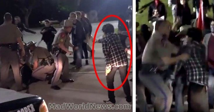 Anti-Trump Rioters Try To Free Arrested Thug From Texas Cops — BIG Mistake