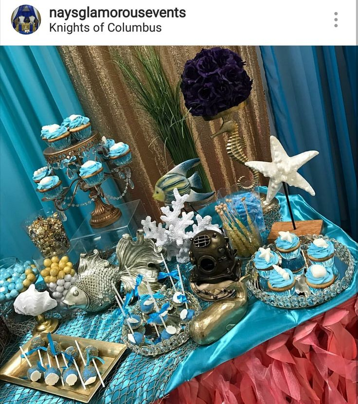 Under The Sea Baby Shower Dessert Table Decor Party
