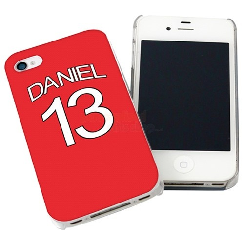 Personalised Arsenal Style Shirt iPhone Case  from Personalised Gifts Shop - ONLY £14.95