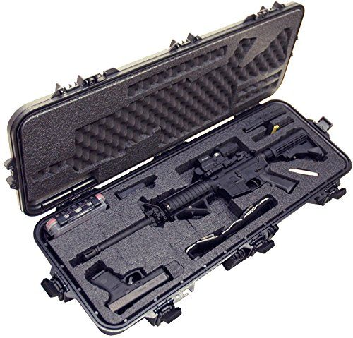 Case Club Pre-Made Waterproof AR15 Rifle Case with Silica Gel & Accessory Box