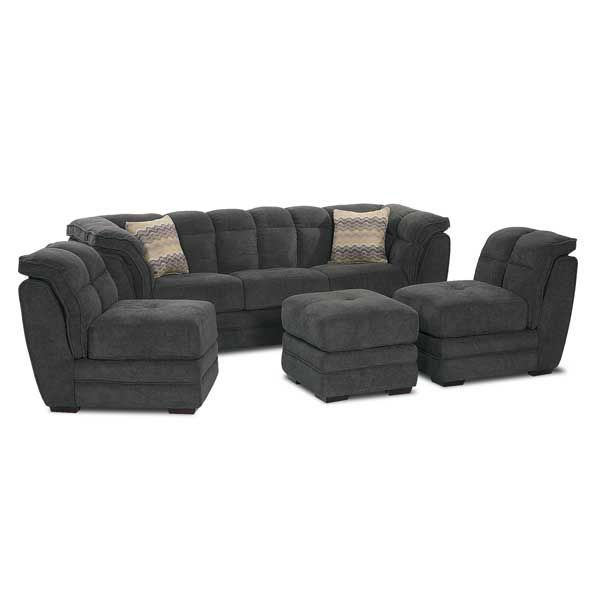 American Furniture Warehouse Virtual Store 367 334: Gray 4 PC Pit Sectional