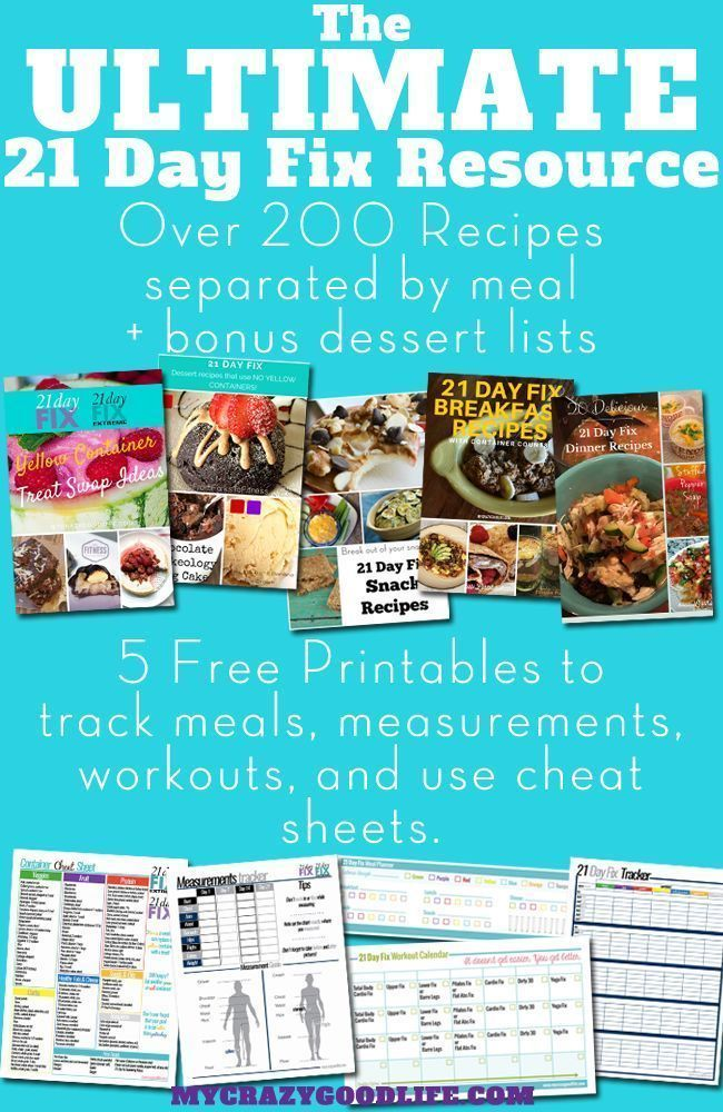 Over 200 recipes & 5 free 21 Day Fix printables all in one handy place! Use these to stay motivated and on track while doing the 21 Day Fix or 21 Day Fix Extreme!