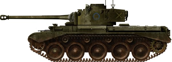 The Scottish Territorial Army Regiment 2nd Fife and Fofar Yeomanry were also issued with Comet tanks.