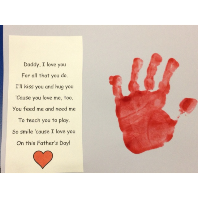 father's day handprint footprint art