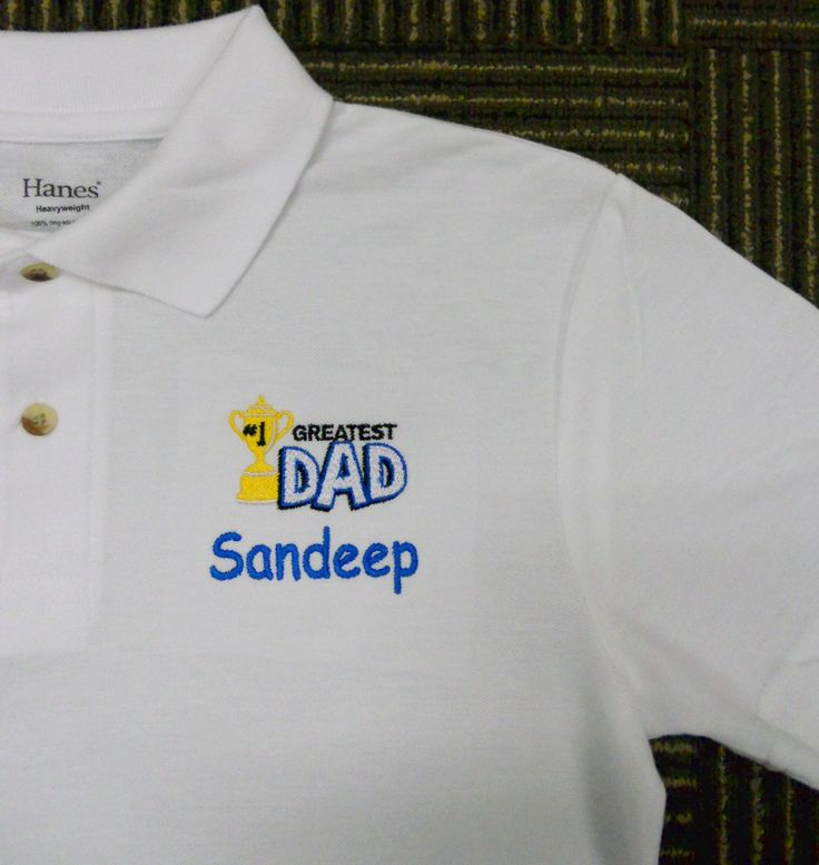Father's Day Gifts - Personalised Polo Shirt embroidery by ThatCornerShop. #personalisedgifts #birthdaygifts #giftsforhim #giftsforher #giftideas #embroidery