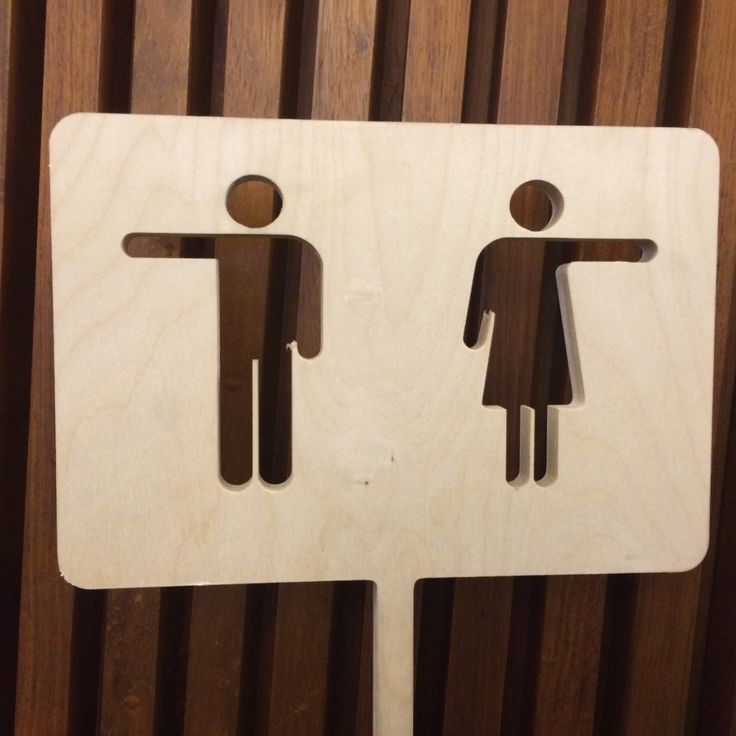 Restroom sign in New Zealand House, London.  Simple and effective.