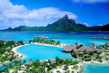 Le Meridien Bora Bora Hotel in Bora Bora. There really would be no reason to leave this paradise.
