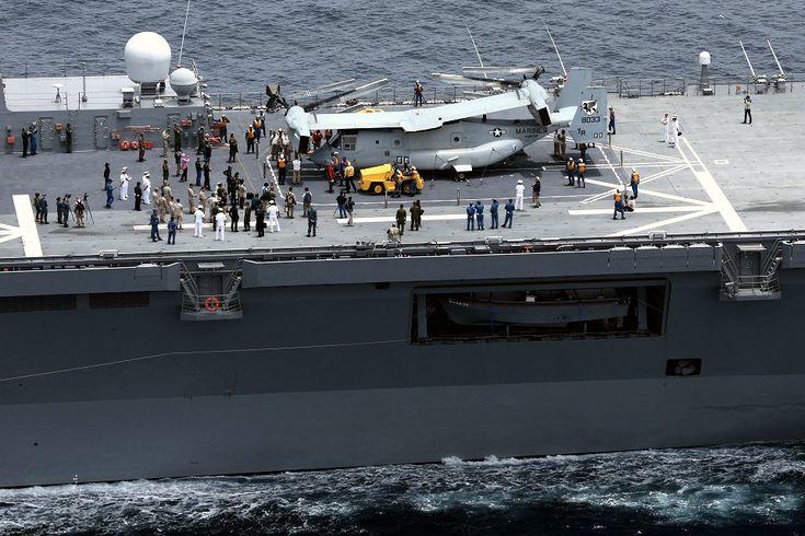 DDH-181 Hyūga - MV-22 Osprey