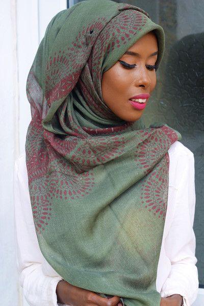 Khaki Print Hijab | Basma K Collection