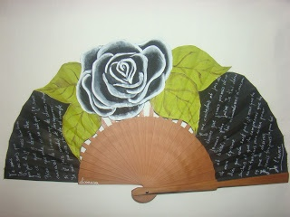 270 best abanicos images on pinterest hand fans hand - Abanicos pintados a mano originales ...