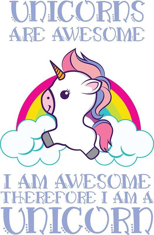 'Awesome Unicorn' Funny Unicorn Gift | Sticker ...