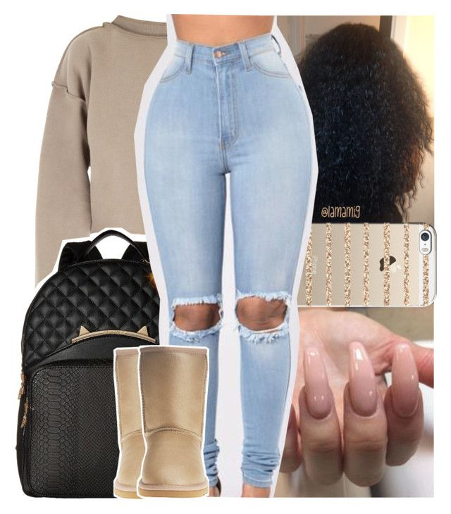 """burn x usher"" by lamamig ❤ liked on Polyvore featuring My Mum Made It, Casetify, Betsey Johnson and UGG Australia"
