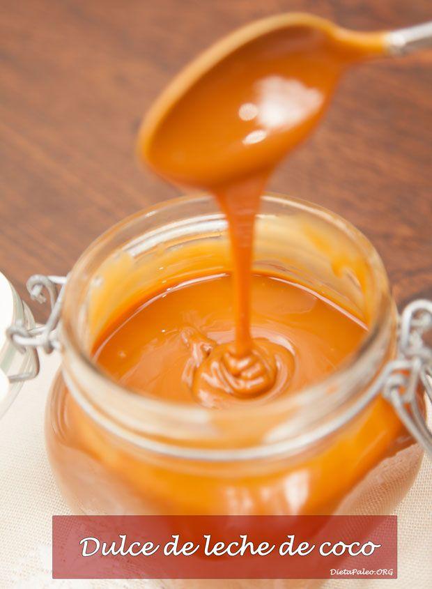 Receta de como preparar dulce de leche de coco sin lactosa paleo. Delicioso y libre de azucar refinado