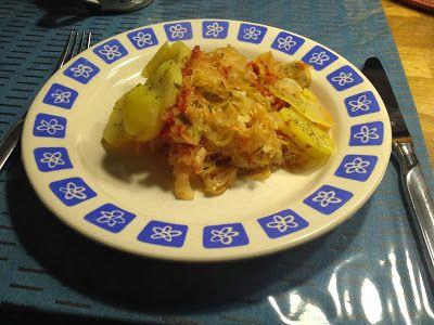 Gebackener Tofu mit Sauerkraut (Slowakische Hymne)  #rezept #tofu #sauerkraut