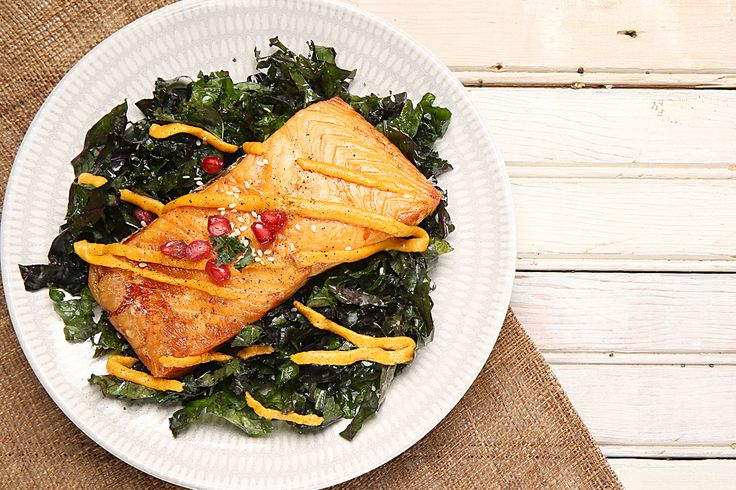 Our Recipes | Baked Salmon over Kale Ribbons [Exclusive Recipe by Missy Chase Lapine] Hamptons Lane